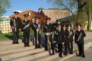 Морской оркестр на встречу гостей